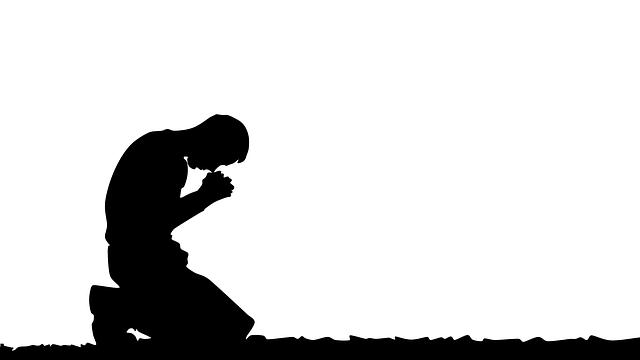 homme et la prière
